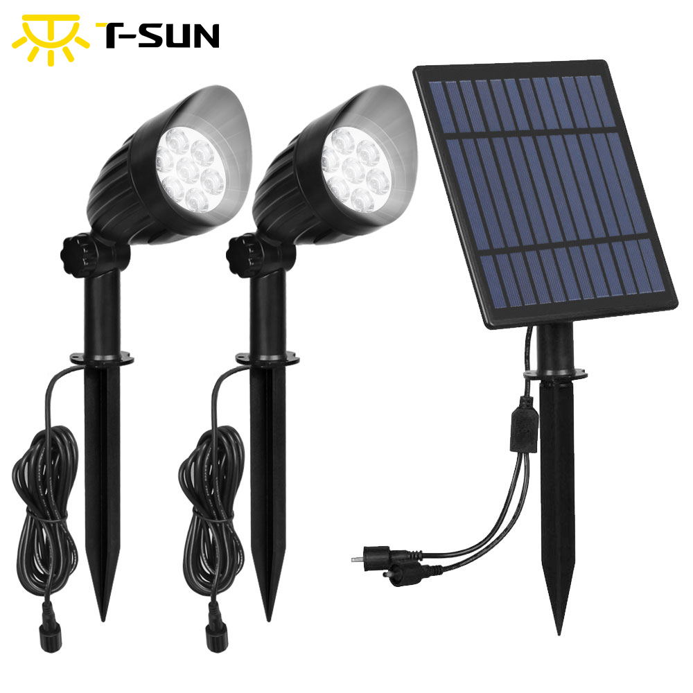 Modern Hat-shaped Spotlight 5W Solar Panel Long-lasting Brightly Pluggable Waterproof Solar Landscape Light Lawn Lamp Solar
