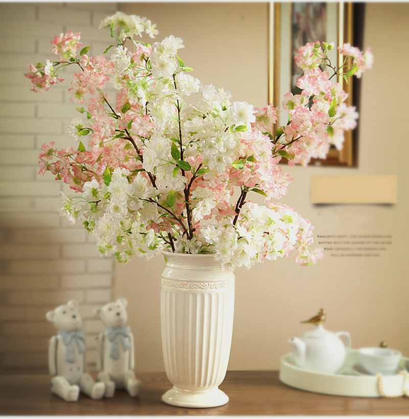 100cm high artificial flower cherry blossom plastic for Artificial flowers decoration for home