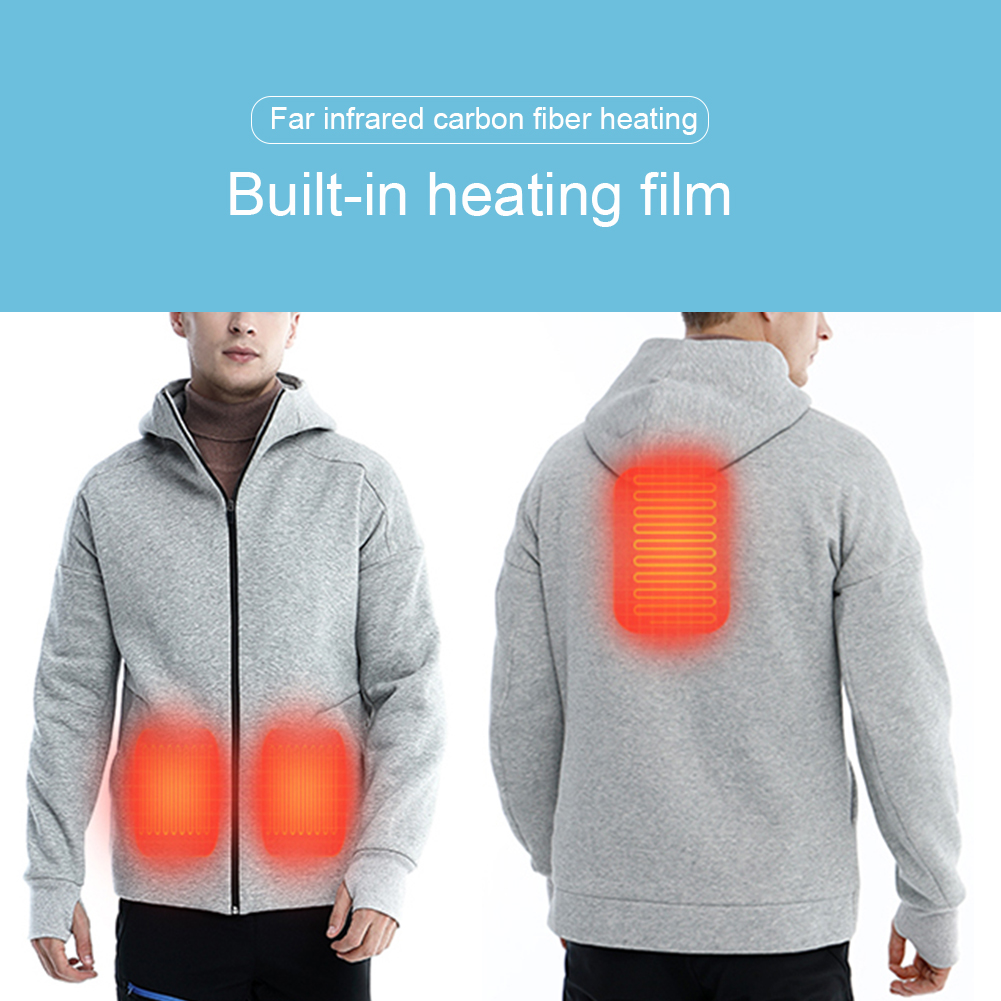 4f06d7ab1 Hot Sale Intelligent Thermostat Heated Jacket Men s Sweater USB Charging  Jacket Winter Warm Electric Thermostat