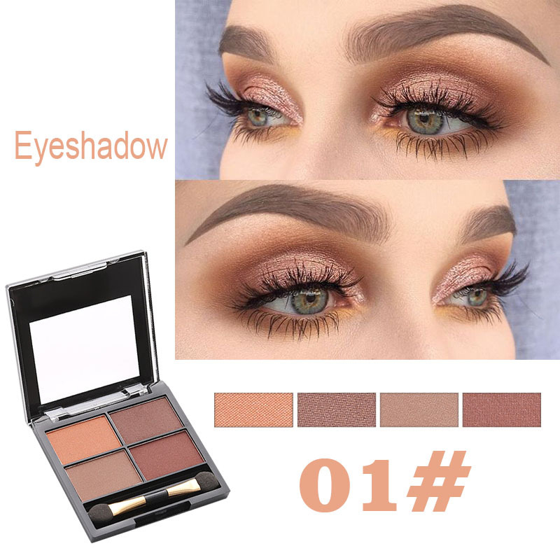Pearl Makeup >> Us 0 73 40 Off Elecool 4 Color Earth Color Eye Shadow Palette High Pearl Makeup Tool Matte Eyeshadow Cosmetic Makeup Maquillaje Tslm2 In Eye Shadow