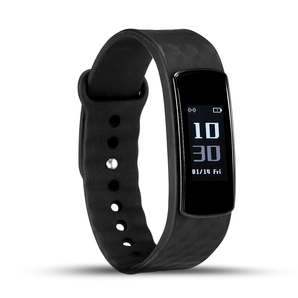 Cell Phone Wristband Bluetooth Waterproof Heart Rate Monitor Black Smartband Message Reminder Fit Band With The