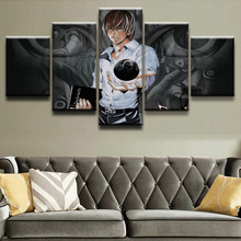 Modular Wall Art Frame 5 Pieces Anime Death Note Character Poster Home Decor Bedroom Wall Art Picture Canvas Print Painting death note anime character figures 8 piece set
