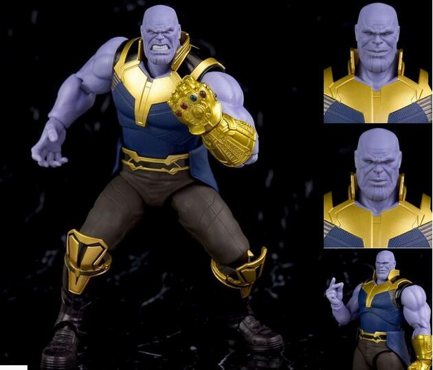 все цены на 16cm Marvel Avengers Thanos Joint movable action figure PVC toys collection doll anime cartoon model