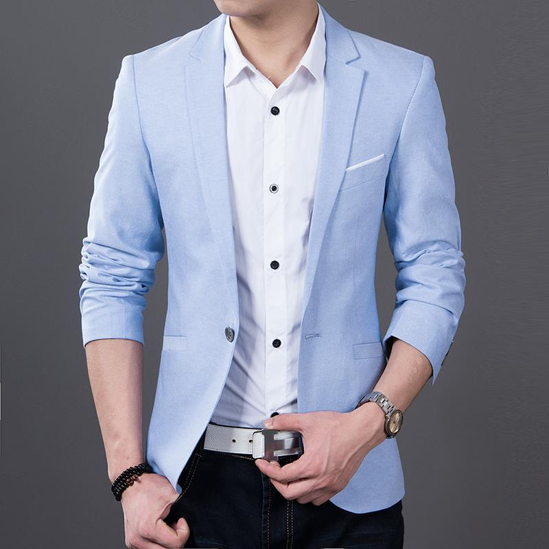 Aliexpress.com : Buy Men blazer Long sleeve Slim fit oxford new ...