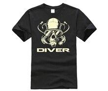 HOT deals Dive Scuba Diver Mens White T-Shirt 2019 Shirt For Men With Price Breathable Plain Tee Cotton 100%