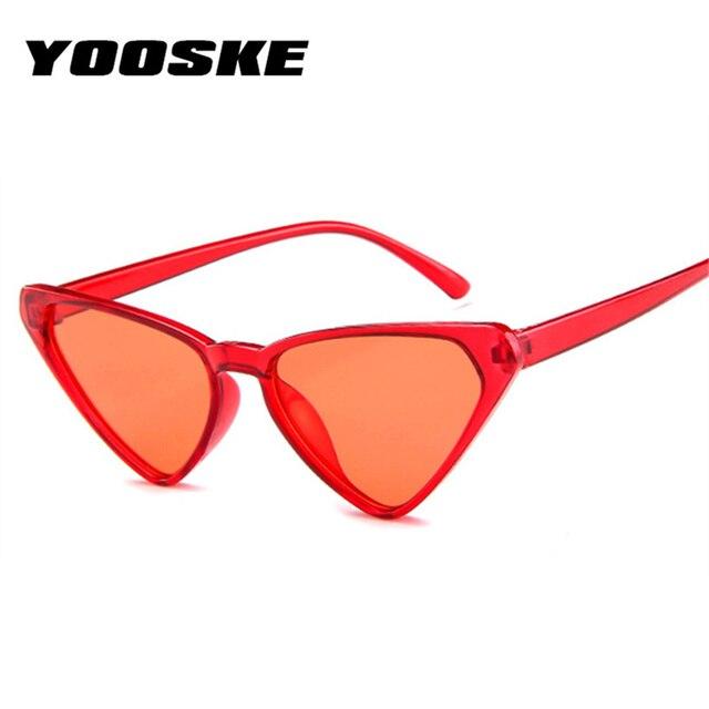 4685828fdeaf YOOSEK 2018 Fashion Triangle Cat Eye Sunglasses Women Sexy Oversized Sun Glasses  Vintage Brand Designer Ladies Eyewear Shades