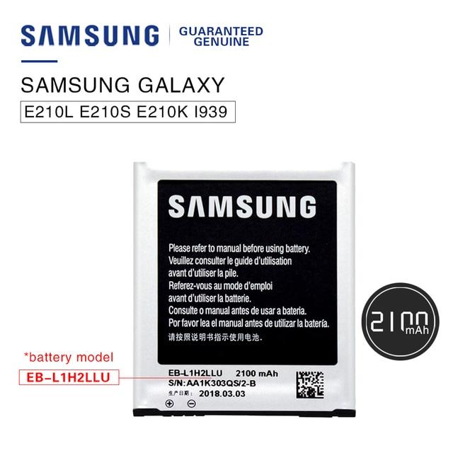 US $12 79 |Original Battery EB L1H2LLU For Samsung i939 LTE E210S/K/U  Galaxy Premier i9260 i9268 Phone batteria akku 2100mAh +tracking no-in  Mobile