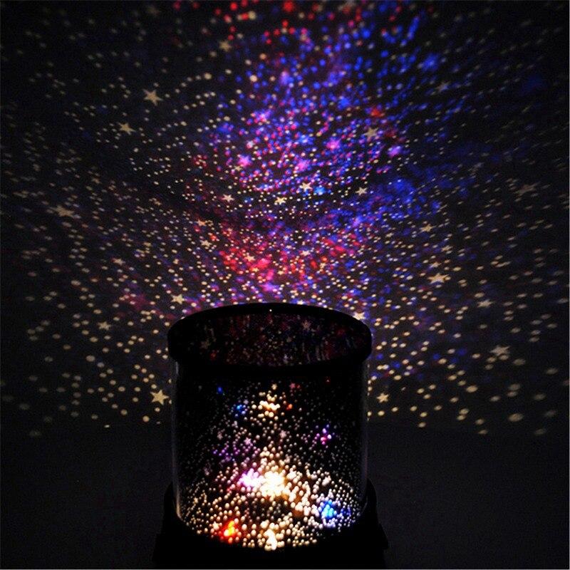 Grande Promotion Coloré Star Sky Maître Projecteur Nuit Étoilée Lumière Lampe Romatic Cadeau Mignon