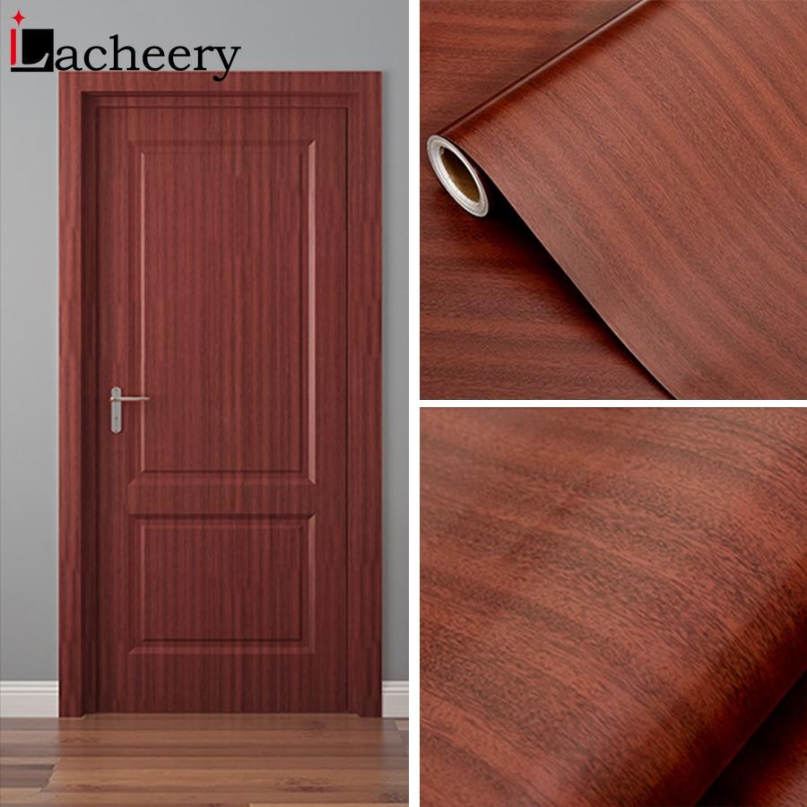 1M/2M Waterproof Wood Vinyl Wallpaper Roll Self Adhesive Contact Paper Doors Cabinet Desktop Modern Furniture Decorative Sticker-3