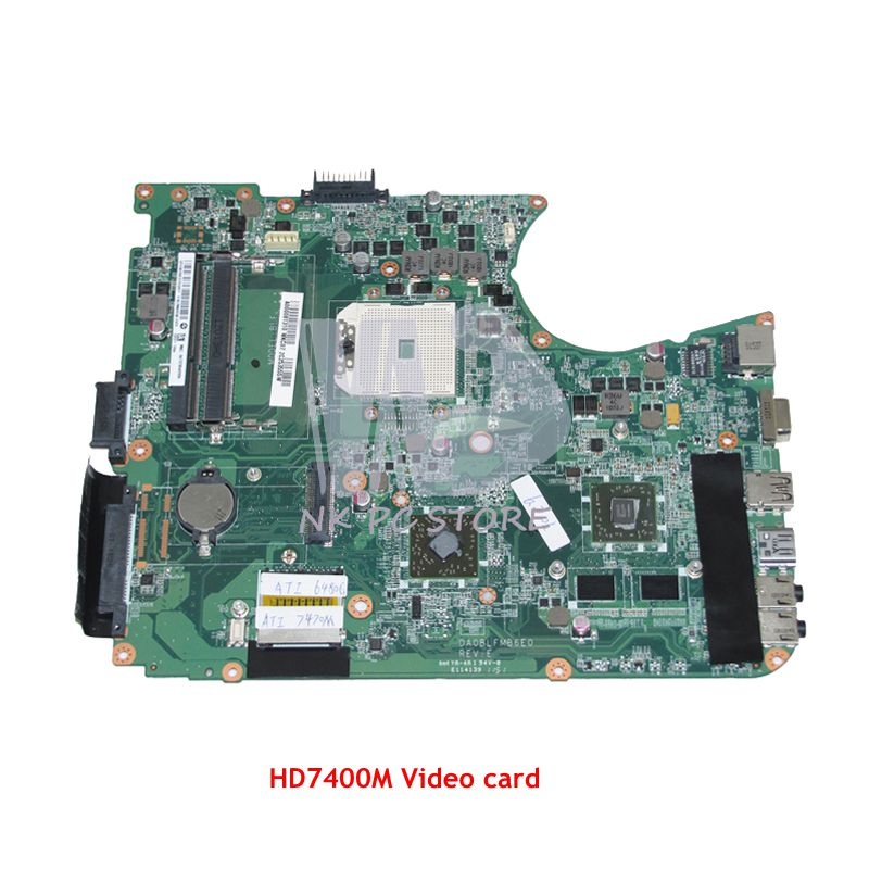 NOKOTION Laptop Motherboard For Toshiba Satellite L750D L755D Main Board Socket FS1 DDR3 HD7400M A000081310 DA0BLFMB6E0 mainboard a000080830 da0blemb6e0 rev e for toshiba satellite l750d l755 l755d laptop motherboard e350 ddr3