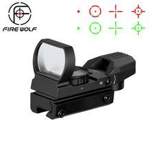 Mira telescópica óptica holográfica de 20mm/11mm, reflejo de punto rojo, mira Táctica de 4 retículas, accesorios para pistola de caza