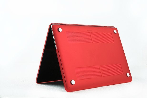 RED Laptop Sleeve Case for Macbook Mac Book Retina 13 15 inch Matte Rubberized Non-slip Hard Notebook Protector Cover