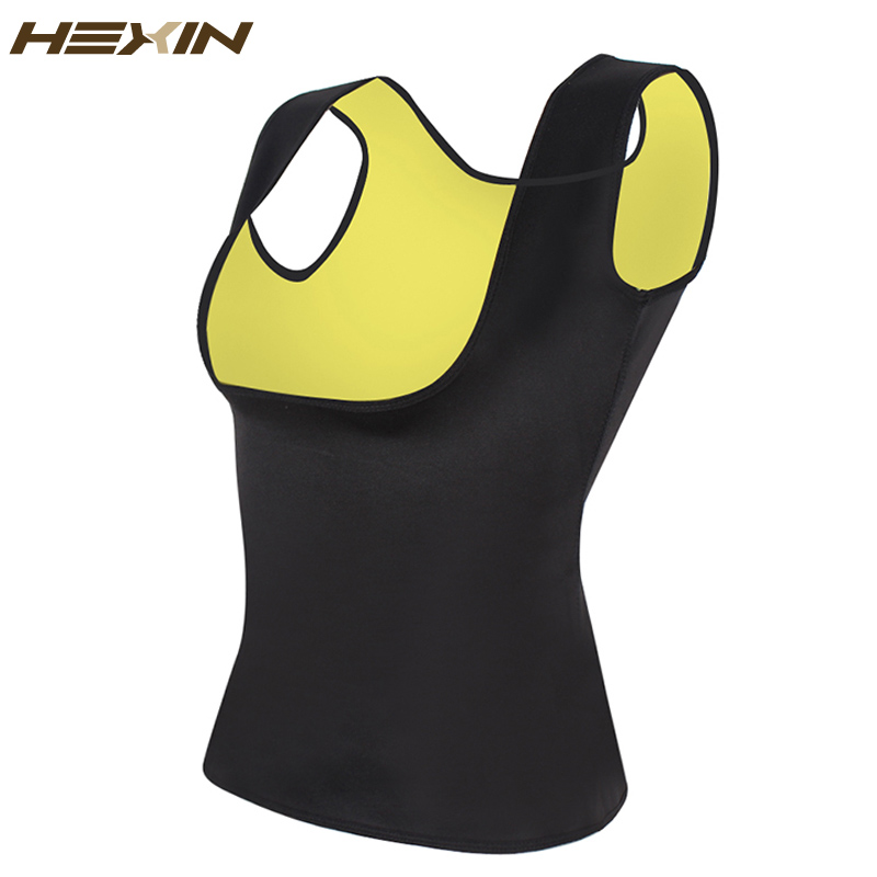HEXIN Neoprene Vest Waist Trainer Fajas Sweat Body Shaper Slimming Shapewear Tank Top Workout Corset Underbust Waist Trainer 6XL