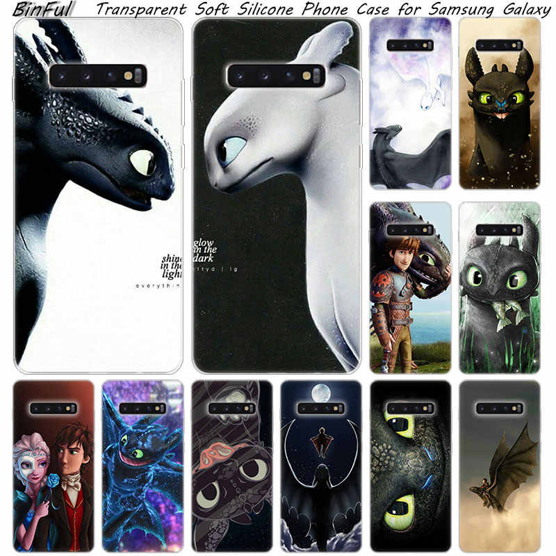 Hot how to train your dragon style Silicone Case For Samsung Galaxy S10 S9 S8 Plus S7 Edge A6 A8 Plus A7 A9 2018 A5 2017 Cover