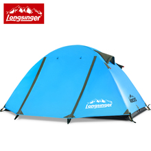 Ultra light double layer aluminum rod professional outdoor font b camping b font hiking tent four