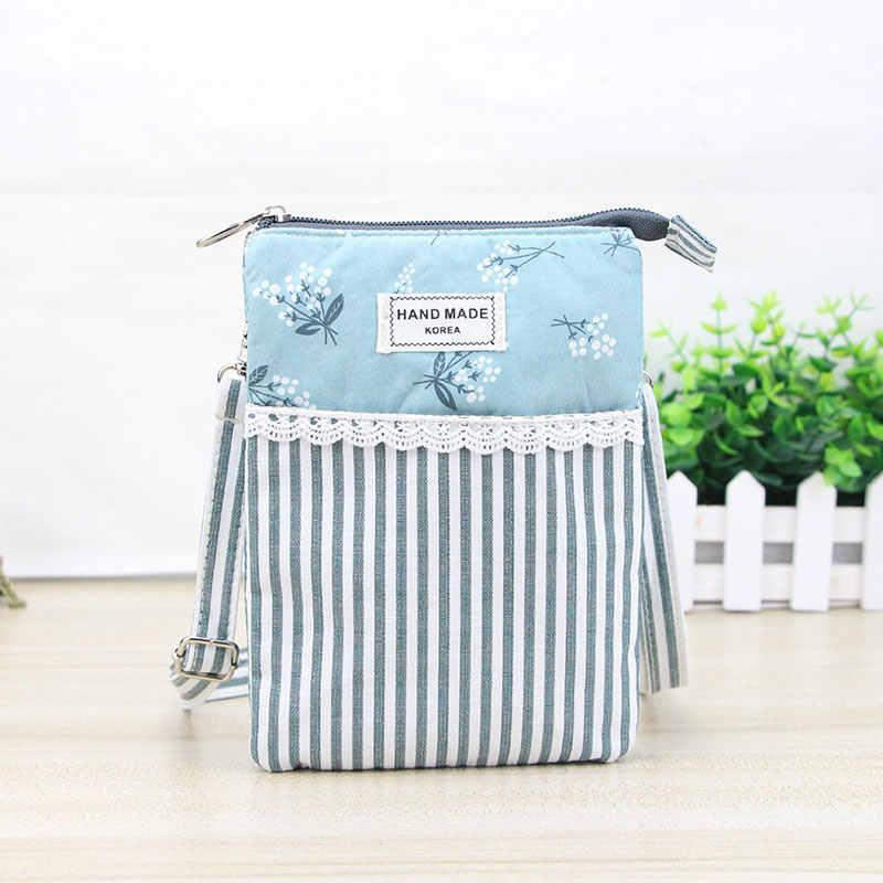 35b0fc414b3f ... High Quality Female Girls Cotton Messenger Bag Flower Lace Phone Bags  Handbags Women Vintage Floral Mini ...