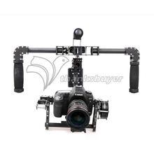3-осевое переносное DSLR углеродного волокна бесщеточный шарнирный замок w/3 шт. двигатели ручка Камера крепление для 5D GH3 GH4 Камера