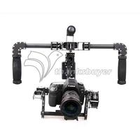 3 Axis Handheld DSLR Carbon Fiber Brushless Gimbal W 3pcs Motors Handle Camera Mount For 5D