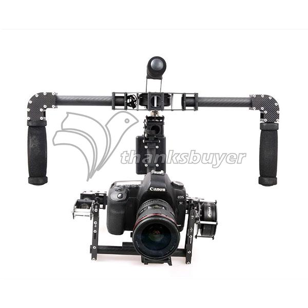 3 Axis Handheld DSLR Carbon Fiber Brushless Gimbal w/ 3pcs Motors Handle Camera Mount for 5D GH3 GH4 Camera yuneec q500 typhoon quadcopter handheld cgo steadygrip gimbal black