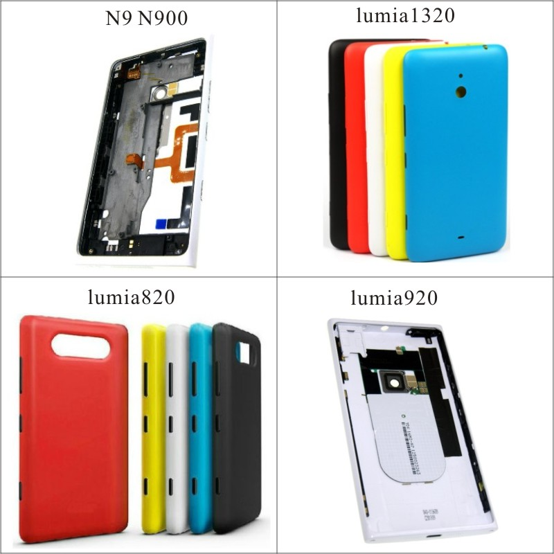 Best quality Rear cover for Nokia N9 920 back battery door housing for Microsoft Lumia 1320 820 back cover Case image