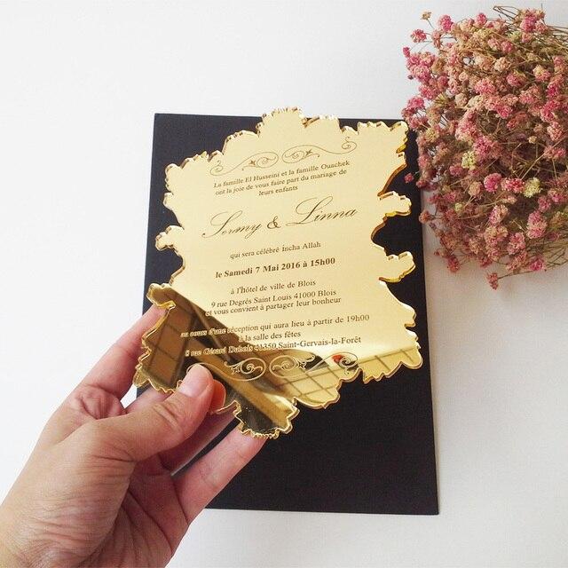 Sample order for 57inch vintage leaf shape golden mirror acrylic