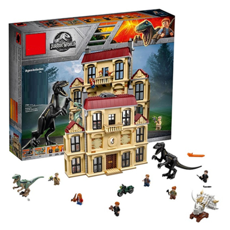 Jurassic World Indoraptor Rampage at Lockwood Estate Building Block Brick Toys