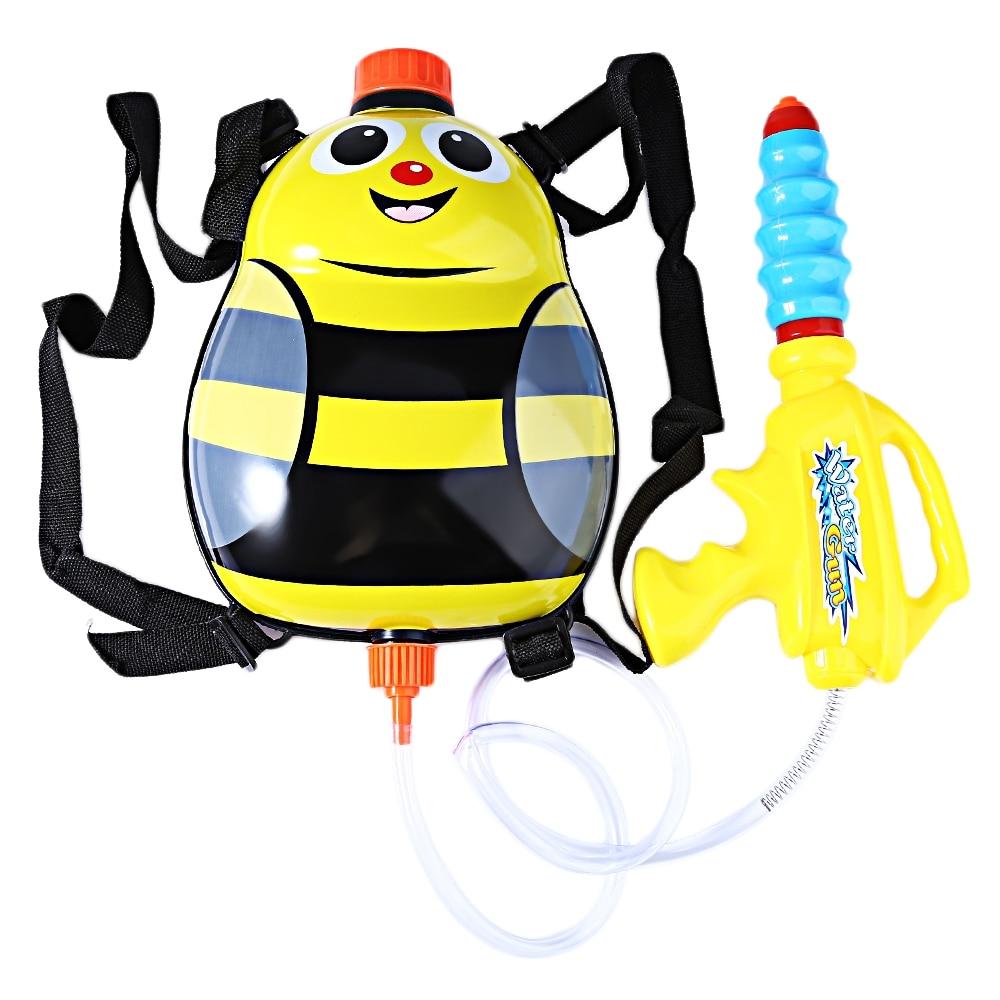 Funny Water Gun Toys Kids Cute Ladybird Outdoor Game Super Soaker Blaster Backpack Pressure Squirt Pool Toy Guns Sport Kid Toys