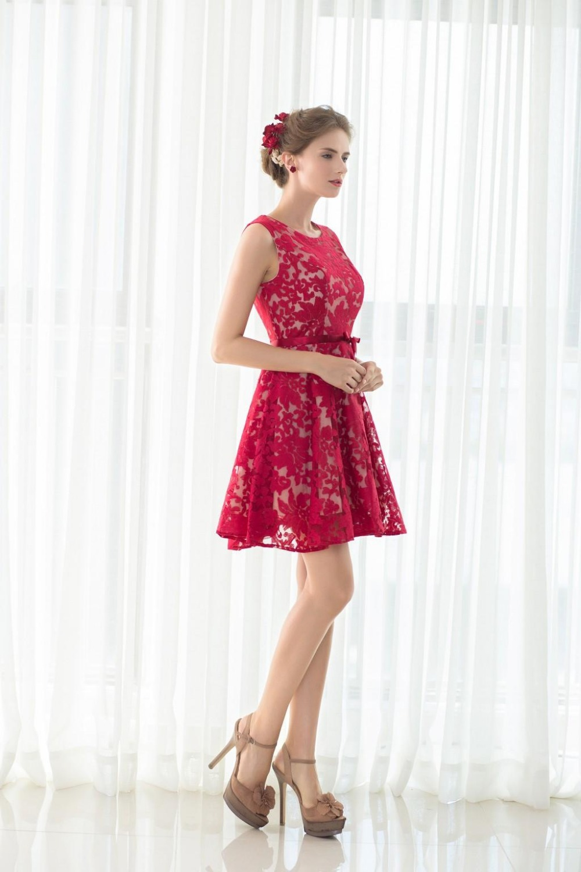 Wunderbar Rote Spitze Brautjungfer Kleid Ideen - Hochzeit Kleid ...