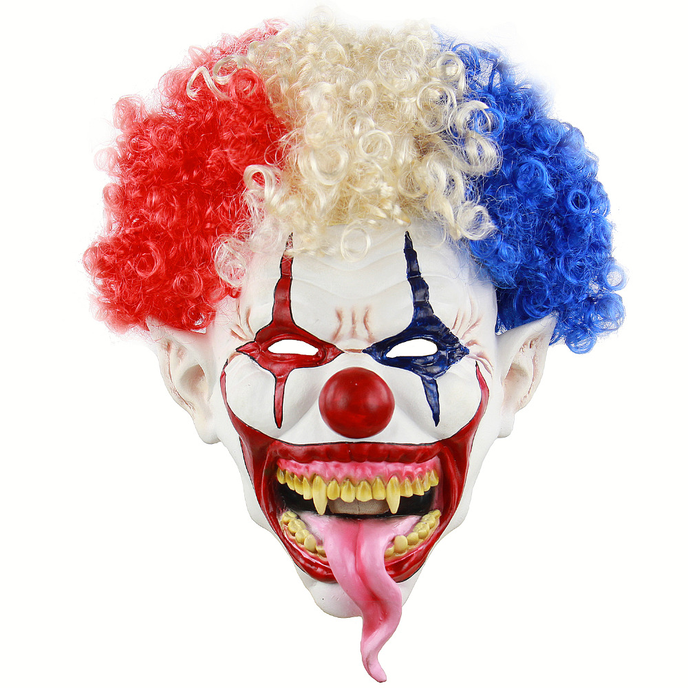 NEW Joker Clown Costume Mask Creepy Evil Scary Halloween Adult Ghost Festive Party Supplies Decoration