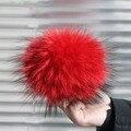 15 cm 100% de pele de guaxinim pompons bolas de pele Pom Pom para saco de luxo chapéus cachecol luvas anexado o ferrolho