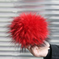 15cm 100% Real Raccoon Fur Pompoms luxurious fur balls Genuine Fur Pom Pom for Bag Hats Cap Scarf Gloves Attached the Hasp
