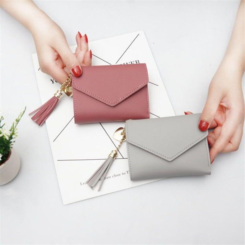 Wallet Female Short Tassel Multi-Function Folding Mini High-Quality Student Fresh Card-Package