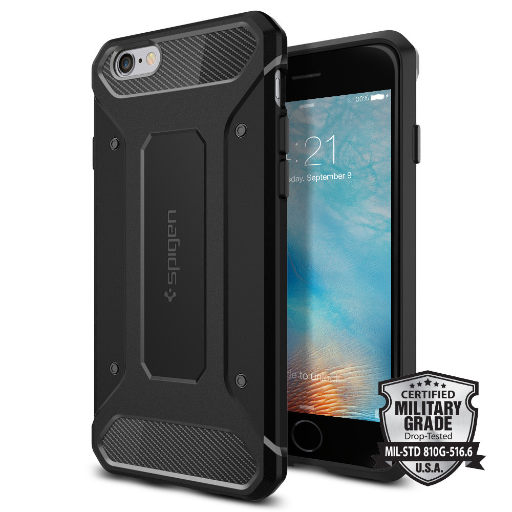 100% Original SPIGEN Rugged Armor Case for iPhone 6S Plus / iPhone 6 Plus (5.5 inch) with Retail Package spigen iphone 8 plus case