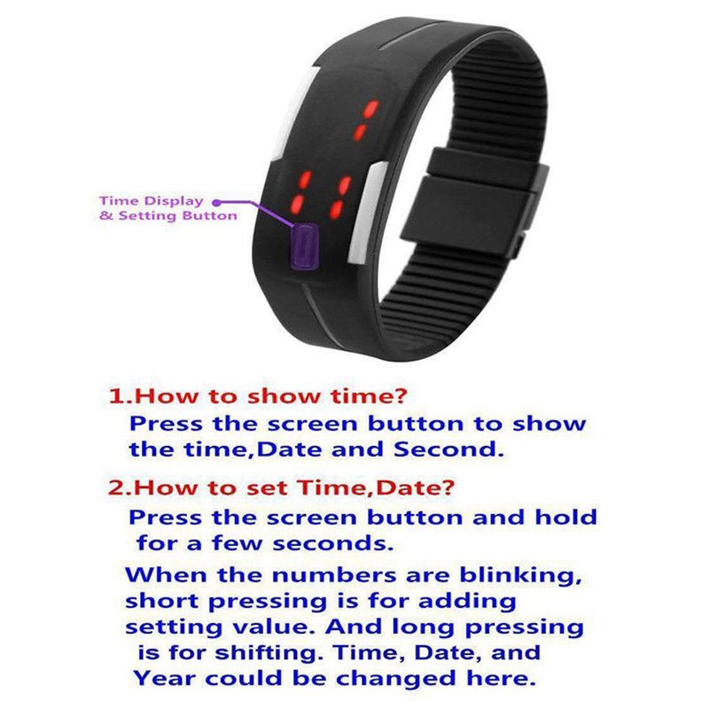 Candy Color Men's Women's Watch Rubber Led Kids Watches Date Bracelet Digital Sports Wristwatch For Student #5