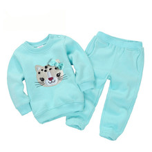 New 1-5 Years Baby Girls Suits Sports Children's Clothing Sets Baby Boys Spring Suit Set Baby Girl Long Sleeve fleece Sets