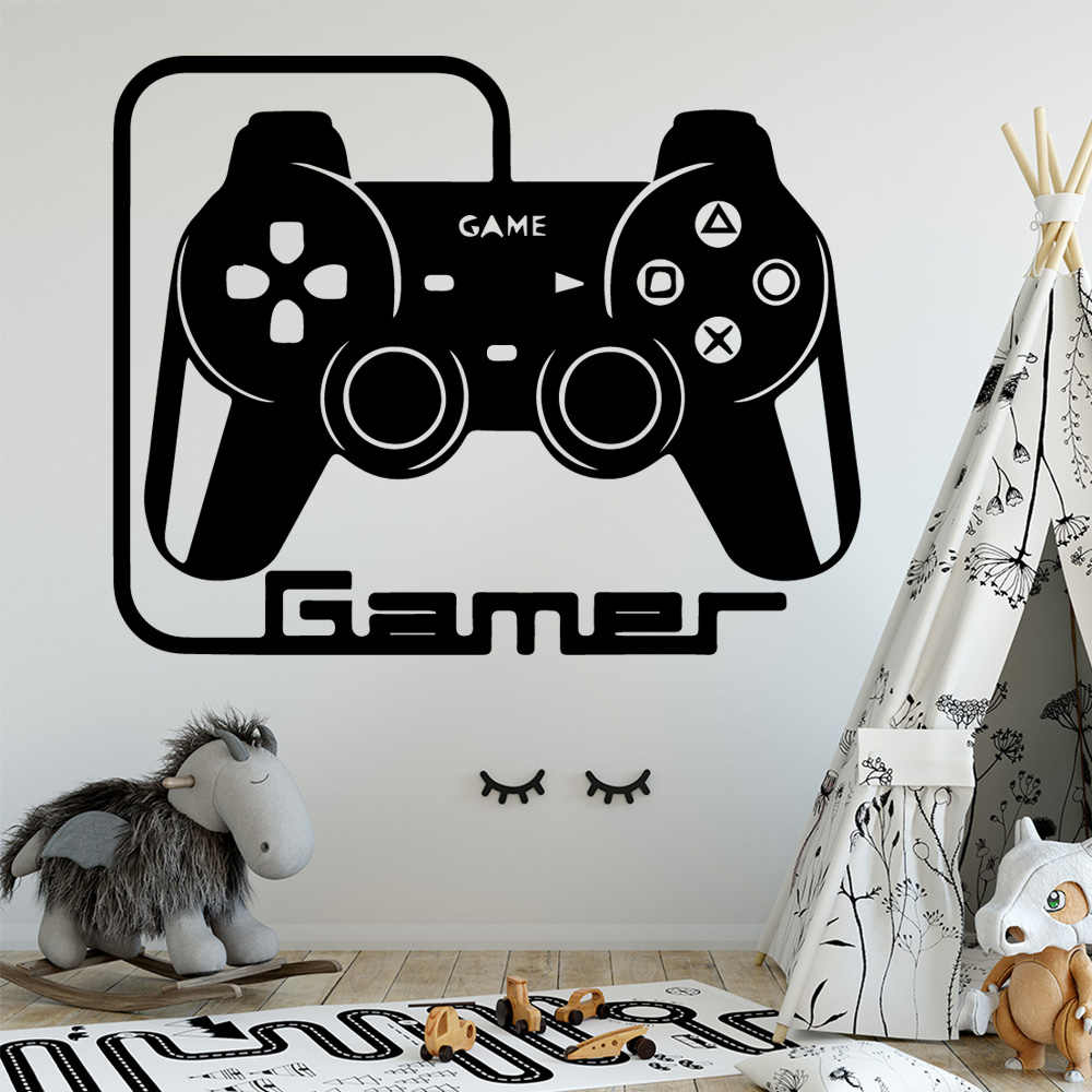 Gamer Wall Decals Art Vinyl Stickers For Kids Rooms Game Room Decoration wallstickers Waterproof Wallpaper ps4 Xbox game