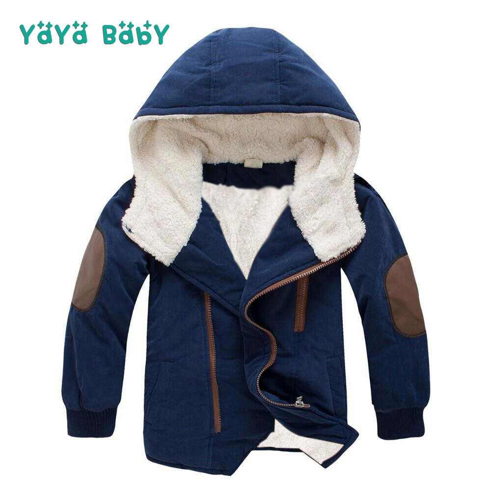 Cotton-Padded Boys Coats 2018 New Autumn Winter Casual Kids Jackets for Boy Hooded Thicken Warm Children Outerwear Top Clothing mint green casual sleeveless hooded top