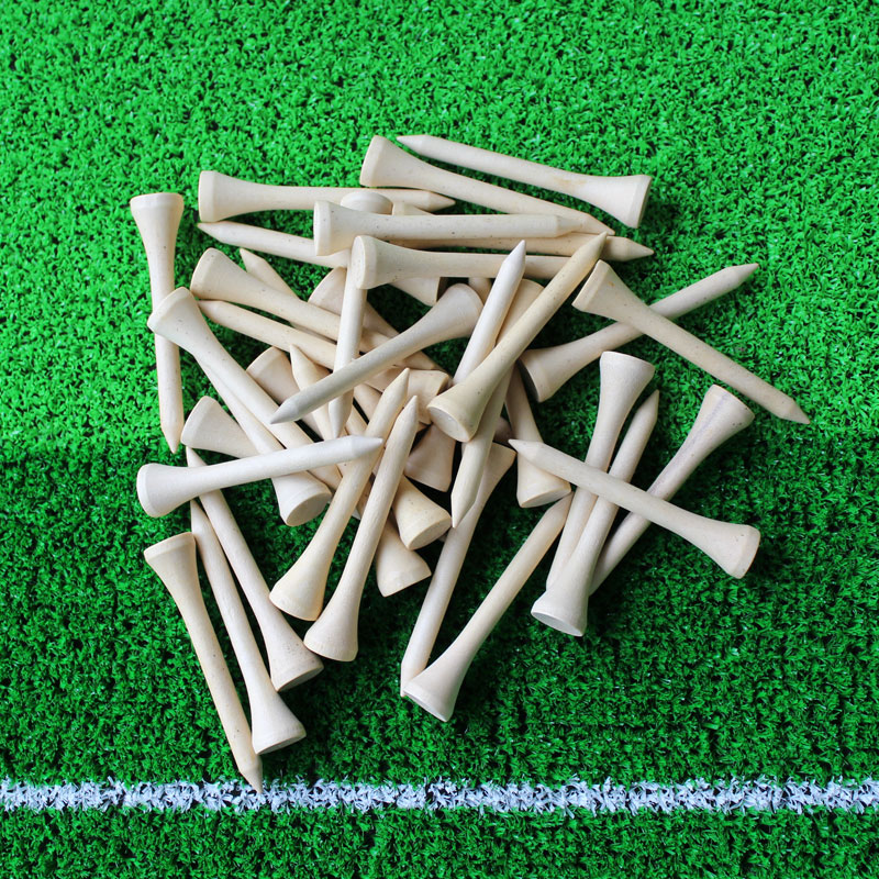 2017 Brand New Free Shipping 50pcs/lot 70mm Golf Ball Wood Tees Wooden Golf Accessories Wholesale