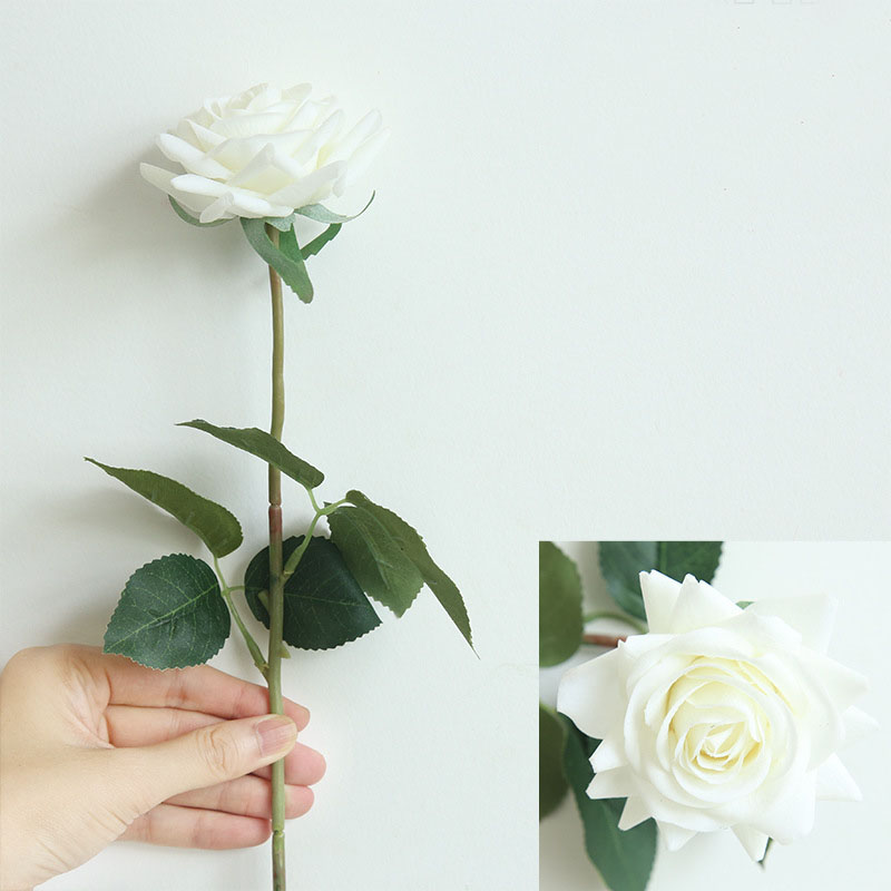 Real touch roses artificial flower wedding home decoration (6)