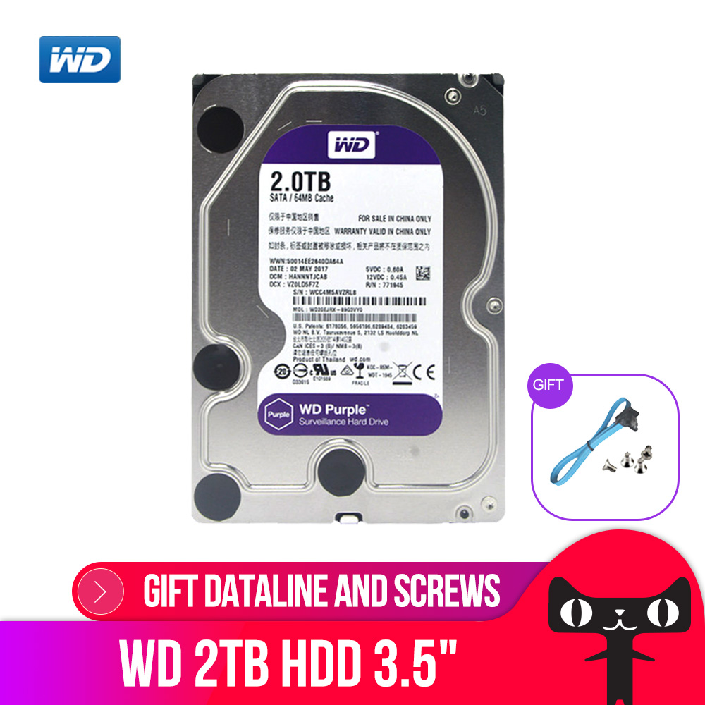 Western Digital 3tb Purple Wd Surveillance Hard Disk Drive 3 5 3