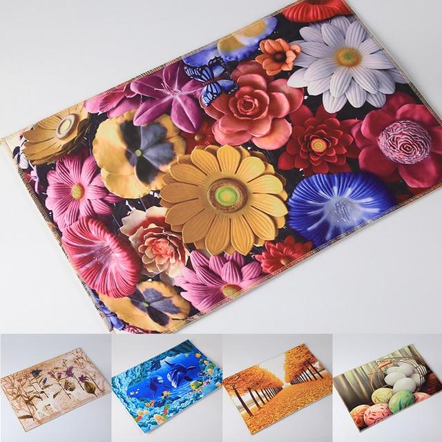 Anti Slip 3D Modern Print Bath Mat Doormat Tapete Para Banheiro