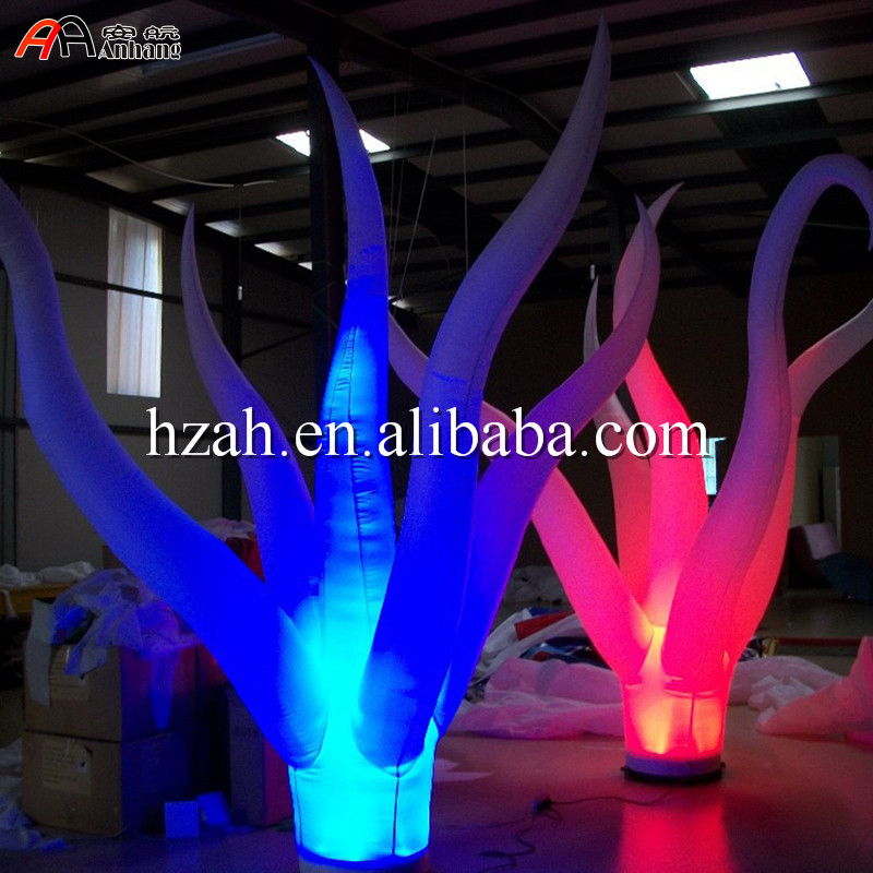 Standing Led Lighted Inflatable Plant Inflatable Jellyfish Plant for Party Decoration wedding inflatabe star inflatable lighted stars for party decoration