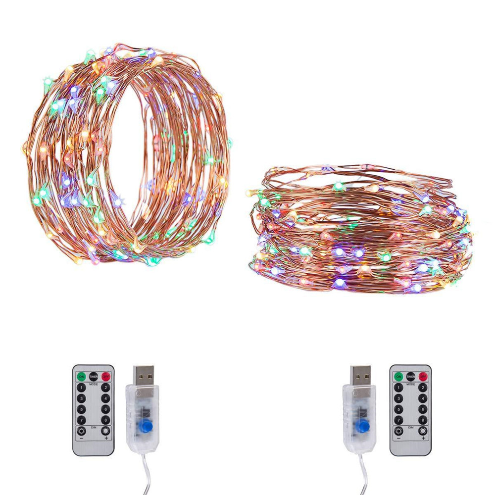 USB LED String Light Remote Control 5M/10M 50/100LED Fairy String Light 20M Copper Wire for Wedding Christmas Holiday Decor lamp Pakistan