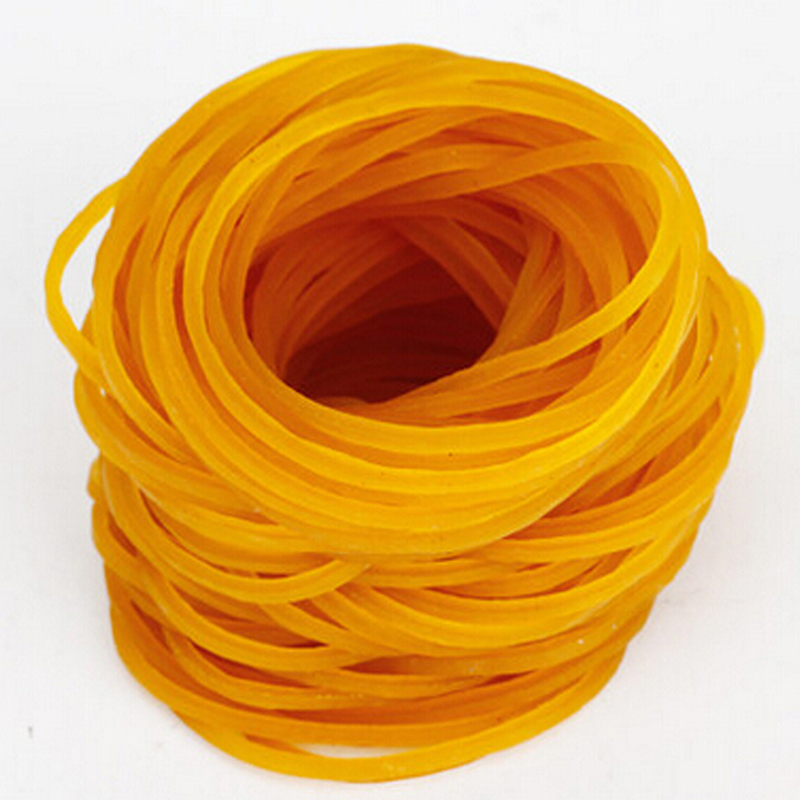 1000pcs/pack 45mm Rubber Bands For School Office Anti-aging Rubber Ring Strong Elastic Yellow Color Stationery Papelaria anti static elastic finger cots stalls yellow size l 50 pcs