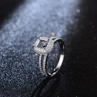 Hot Sale 5x6mm Cushion Cut Halo Diamonds 14K White Gold Engagement Semi Mount Ring Settings