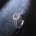 Venta caliente 5x6mm Cut 14 K Oro Blanco de Compromiso de Diamantes de Halo Anillo de Montaje Semi Ajustes