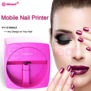 Freeshipping O2NAILS Automatic Nail Painting Easy All-Intelligent 3D Nail Printers Wifi Nail Printer Machine Manicure Equipment(China)
