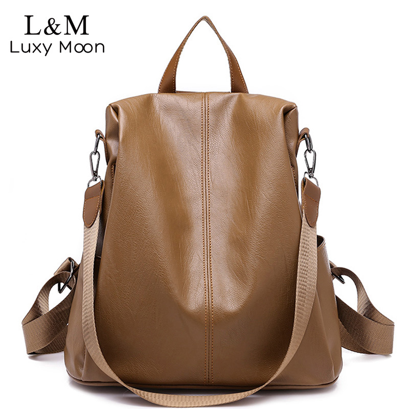 New Leather Backpack Women Anti-theft Backpacks For Teenage Girls Multifunction Large Black Bag Female Back Pack Sac A Dos XA532New Leather Backpack Women Anti-theft Backpacks For Teenage Girls Multifunction Large Black Bag Female Back Pack Sac A Dos XA532