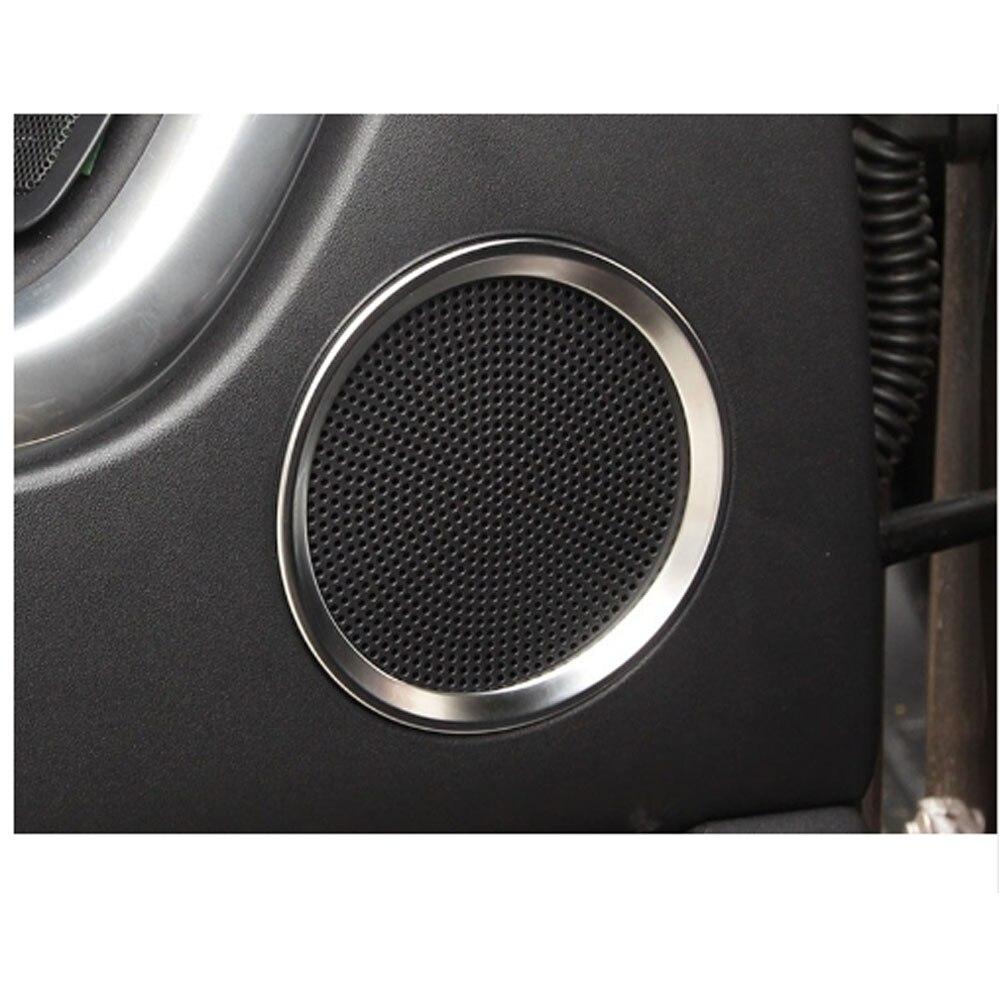 6 pièces Chrome mat côté porte haut-parleur couvercle décoratif cercle anneau pour Land Rover découverte Sport 2015 2016 2017
