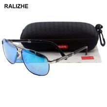 RALIZHE Top Quality New Retro Vintage Mens HD Polarized Sunglasses Exclusive Design Metal Outdoor Sun Glasses Eyewear UV400